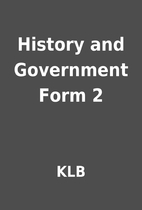 History and Government Form 2 by KLB