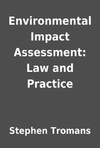 Environmental Impact Assessment: Law and…