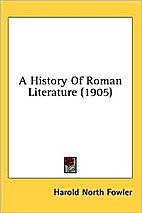 A history of Roman literature by Harold…