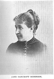 Author photo. Jane Marie Bancroft Robinson (b.1847), Buffalo Electrotype and Engraving Co., Buffalo, N.Y,.
