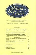 Music & Letters - vol. 80 Nr 1 by Nigel…