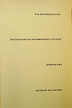 Discussions in Contemporary Culture by Hal…