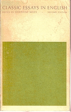 Classic Essays in English by Josephine Miles