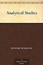 Analytical Studies by Honoré de Balzac