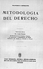 Metodología del derecho by Francesco…