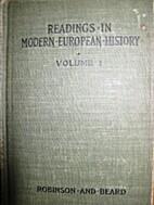 Readings in modern European history; a…