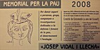 Memorial per la pau Josep Vidal i Llecha…