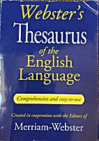 Webster's THesaurus of the English…