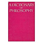 A dictionary of philosophy / edited by M.…