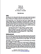 Notes on 1 Kings by Thomas L. Constable