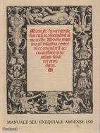 Manuale seu exequiale aboense 1522 by Martti…