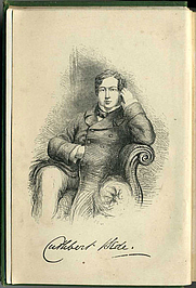 Author photo. Frontispiece to Verdant Green, original printing (19th century) <BR>Scanned by Steven J. Plunkett (Wikimedia Commons)