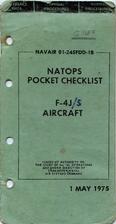 NATOPS Pocket Checklist F-4J Aircraft.…