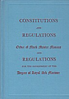 Constitutions and regulations by Onbekend