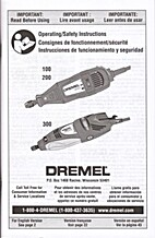 Operating/Safety Instructions, Rotary Tools…