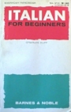 Italian for Beginners by Charles Duff