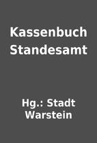 Kassenbuch Standesamt by Hg.: Stadt Warstein