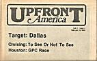 Upfront America (Volume 1, Number 4)…