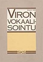 Viron vokaalisointu by Kalevi Wiik