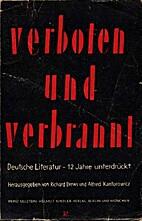 Verboten und verbrannt : deutsche Literatur…