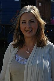 Author photo. Backstage at Glastonbury 2011