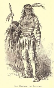 Author photo. Edwin Eastman (in costume). Frontispiece from Seven and nine years among the Camanches and Apaches : an autobiography (1874 [c1873)