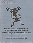 Archeological Investigations in West-Central…
