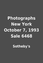 Photographs New York October 7, 1993 Sale…