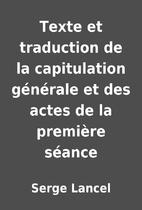 Texte et traduction de la capitulation…