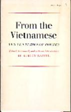 From the Vietnamese: Ten Centuries of Poetry…