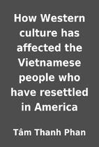 How Western culture has affected the…