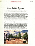 New Public Spaces: Architecture magazine…