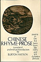 Chinese Rhyme-Prose: Poems in the Fu Form…