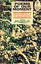 Poems of Our Moment by John Hollander