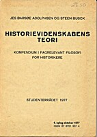 Historievidenskabens teori / kompendium i…