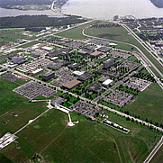 Author photo. Aerial view of the Lyndon B. Johnson Space Center in 1989 [credit: NASA]