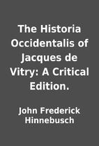 The Historia Occidentalis of Jacques de…