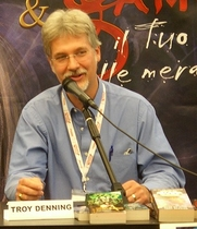 Author photo. Troy Denning, Lucas Comics & Games, 2007.