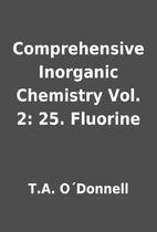 Comprehensive Inorganic Chemistry Vol. 2:…
