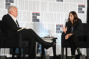 """Author photo. Ann Beattie discusses """"A Wonderful Stroke of Luck"""" with Neely Tucker at the National Book Festival, August 31, 2019. Photo by Ralph Small/Library of Congress. By Library of Congress Life - 20190831RS0285.jpg, CC0, <a href=""""https://commons.wikimedia.org/w/index.php?curid=82899274"""" rel=""""nofollow"""" target=""""_top"""">https://commons.wikimedia.org/w/index.php?curid=82899274</a>"""