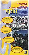 (croatia) Split, city map
