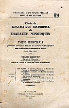 Étude de linguistique historique du…