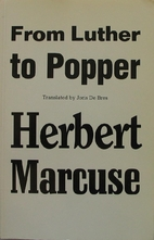 From Luther to Popper by Herbert Marcuse
