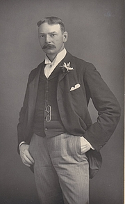 Author photo. Jerome K Jerome taken and published about 1895 by W & D Downey
