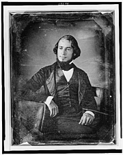 Author photo. Solomon Nunes Carvalho (1815-1897), circa 1850 (Daguerreotype Collection, Library of Congress Prints and Photographs Division, Reproduction Number: LC-USZ62-112299)