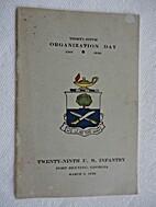Thirty-Fifth Organization Day, 1901-1936,…