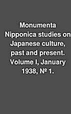 Monumenta Nipponica studies on Japanese…