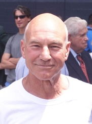 Author photo. Patrick Stewart, Actor ~ Photo by U.S. Army Cadet Patrick Caughey, 2004