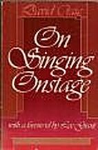 On Singing Onstage by David Craig