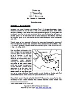 Notes on 2 Timothy by Thomas L. Constable
